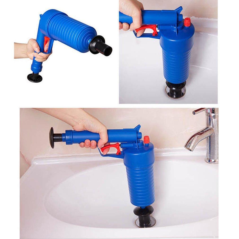 Desagüe de aire a alta presión Limpiador del limpiaparabrisas Plástico en ABS Plomería Inodoros Tubos y desagües obstruidos con 4 adaptadores, ...