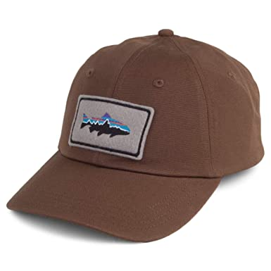 4eac12d19a07f Patagonia Hats Fitz Roy Trout Patch Trade Baseball Cap - Brown Adjustable   Amazon.co.uk  Clothing