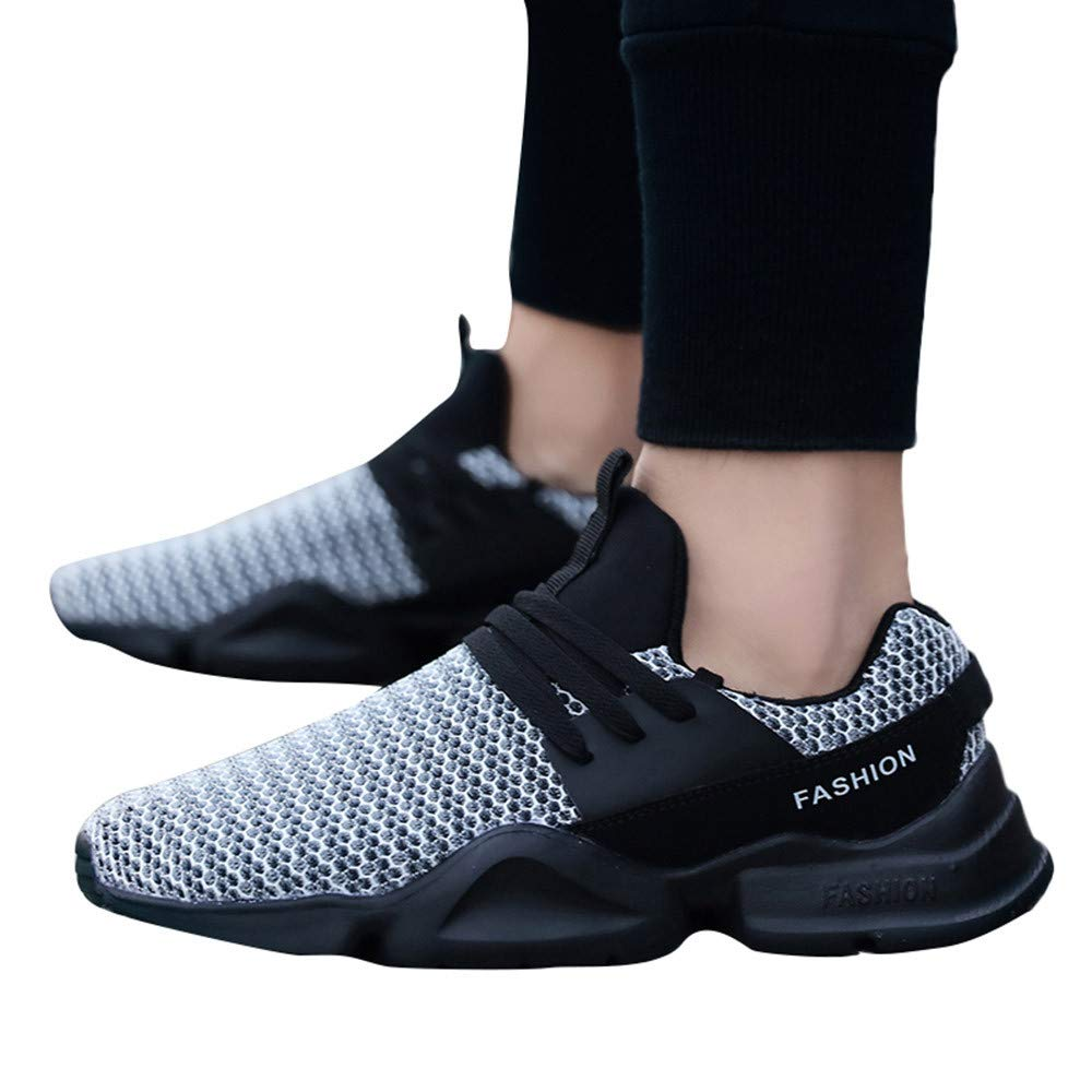Pandaie-Mens Shoes Casual Men/'s Lace-Up Sport Running Shoes Wear Resistant Light Breathable Sneaker