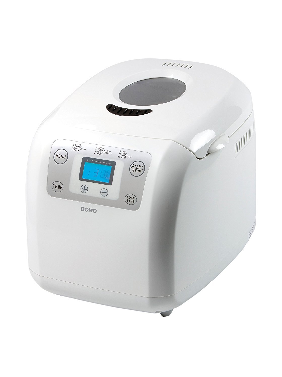 Domo DO-B3985 - Panificadora, 600 W, color blanco: Amazon.es ...