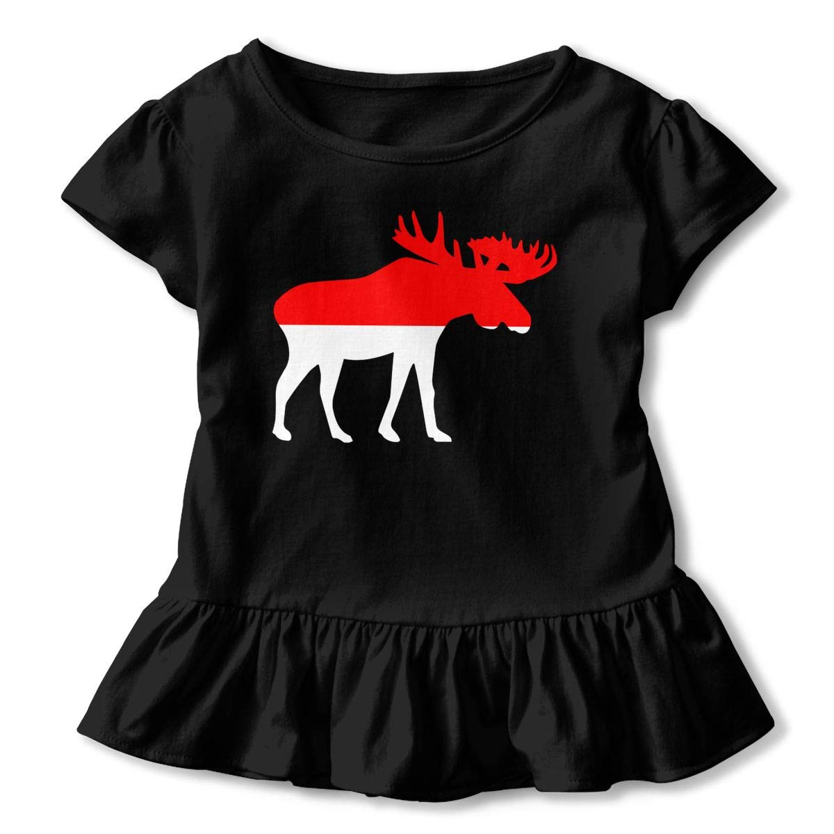 Cute Tunic Tops with Falbala Zi7J9q-0 Short-Sleeve Indonesia Moose T-Shirts for Girls 2-6T