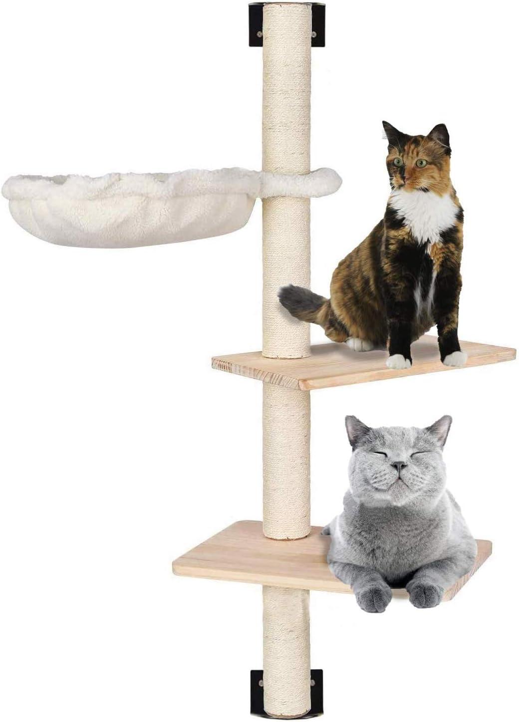 con escalones de Madera Maciza y Hamaca Sunny Seat MECOREX Estanter/ía para Gatos de Mecoex