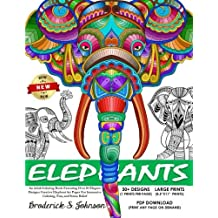 Elephants An Adult Coloring Book Featuring Over 30 Elegant Designs Creative Elephant Art Pages