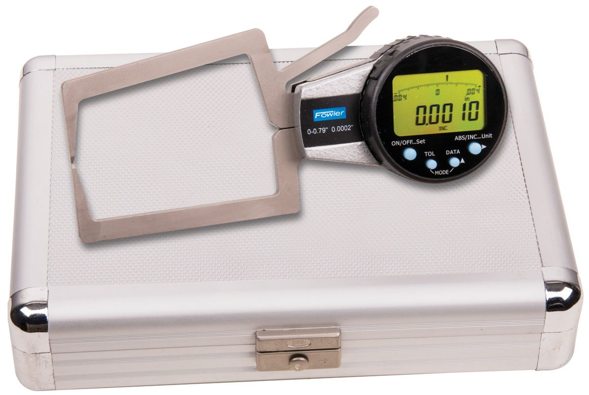 Fowler 54-554-722 External Electronic Caliper Gage, 0-0.790'' Measuring Range, 0.0005'' Resolution, 0.0008'' Accuracy