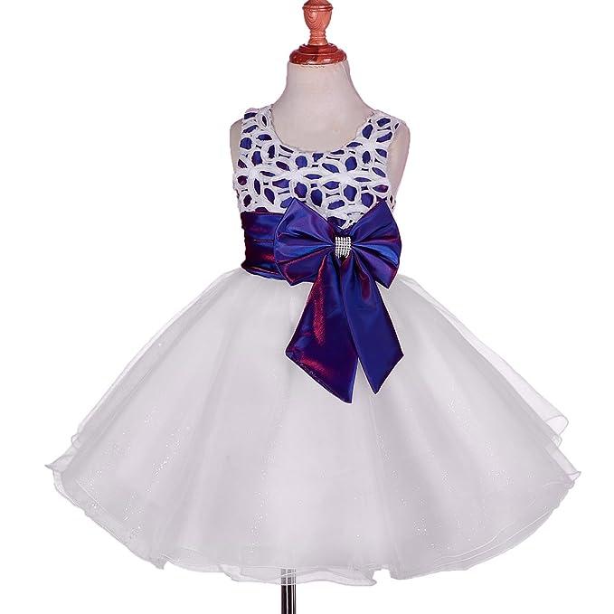 Amazon.com: Dressy Daisy Girls\' Big Bow Tulle Flower Girl Dresses ...