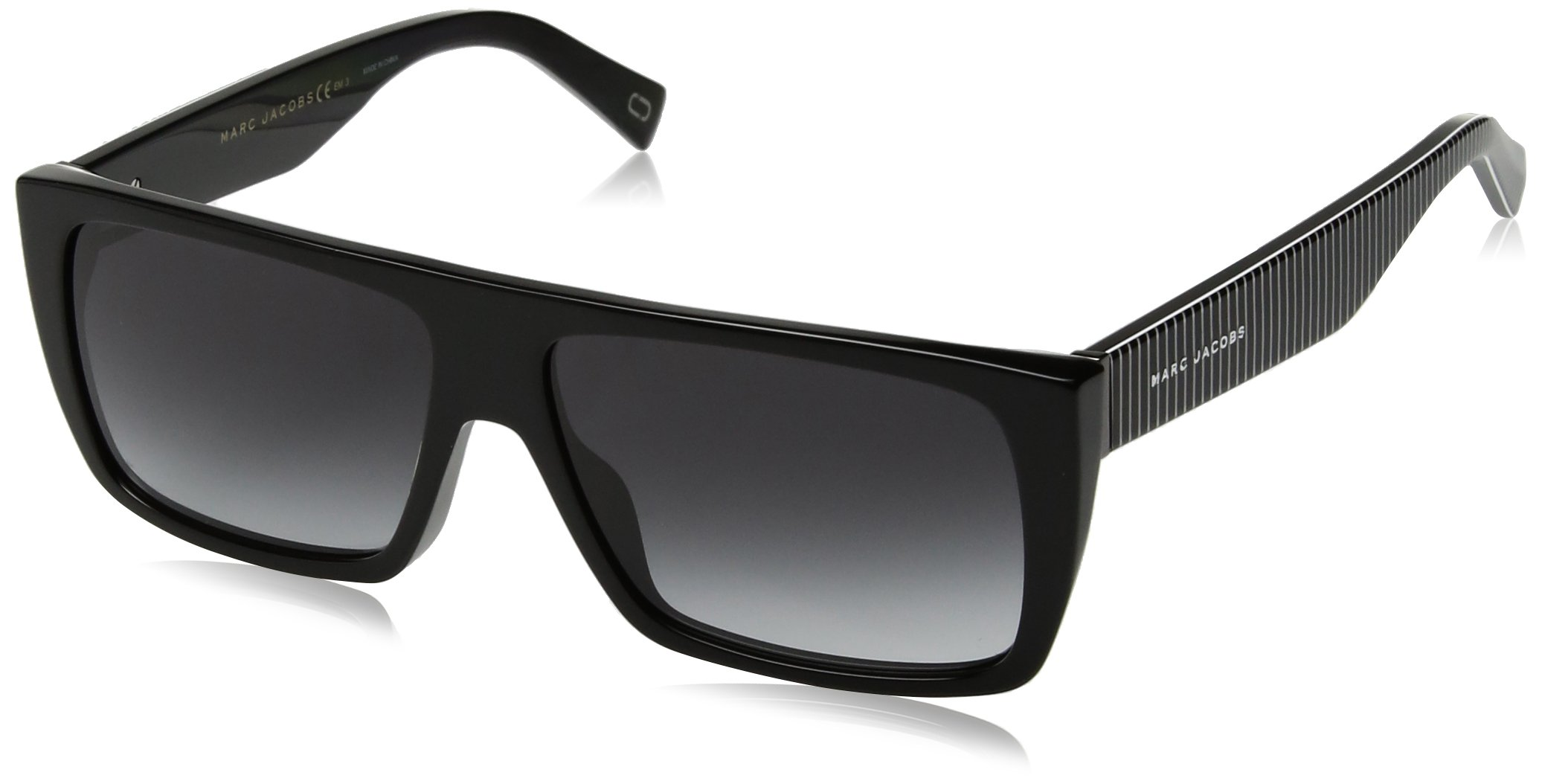 Marc Jacobs Marc096s Rectangular Sunglasses, Black, 57 mm