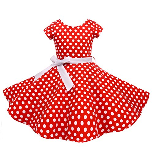 Vintage Girls Dresses Polka Dot Swing Rockabilly Dresses for Girls for Party Special Occasion for $<!--$28.99-->