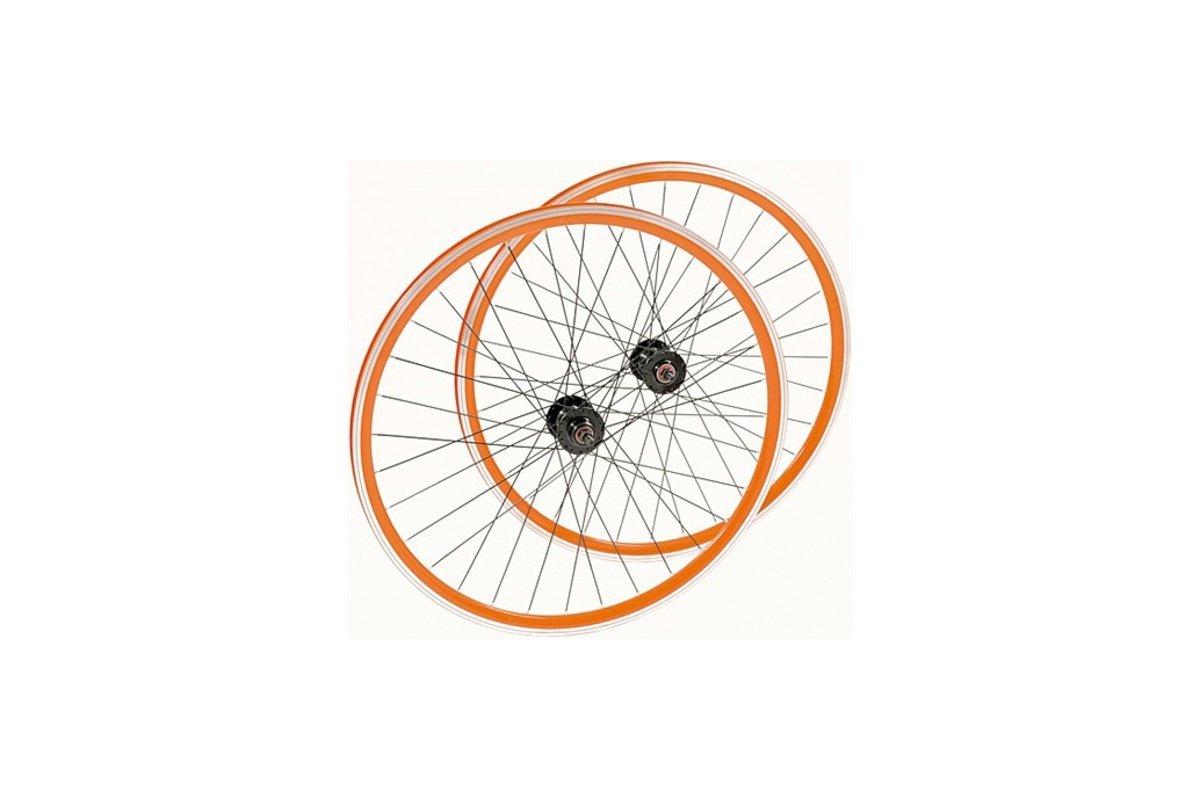 LR-Satz-Single SPEED-Orange-SW-SW-700C FIXED FREE-32 Loch