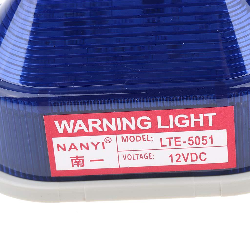 rojo3 Luz de Advertencia L/ámpara Iluminaci/ón LED a Pruba de Agua para Industria Taller Transporte