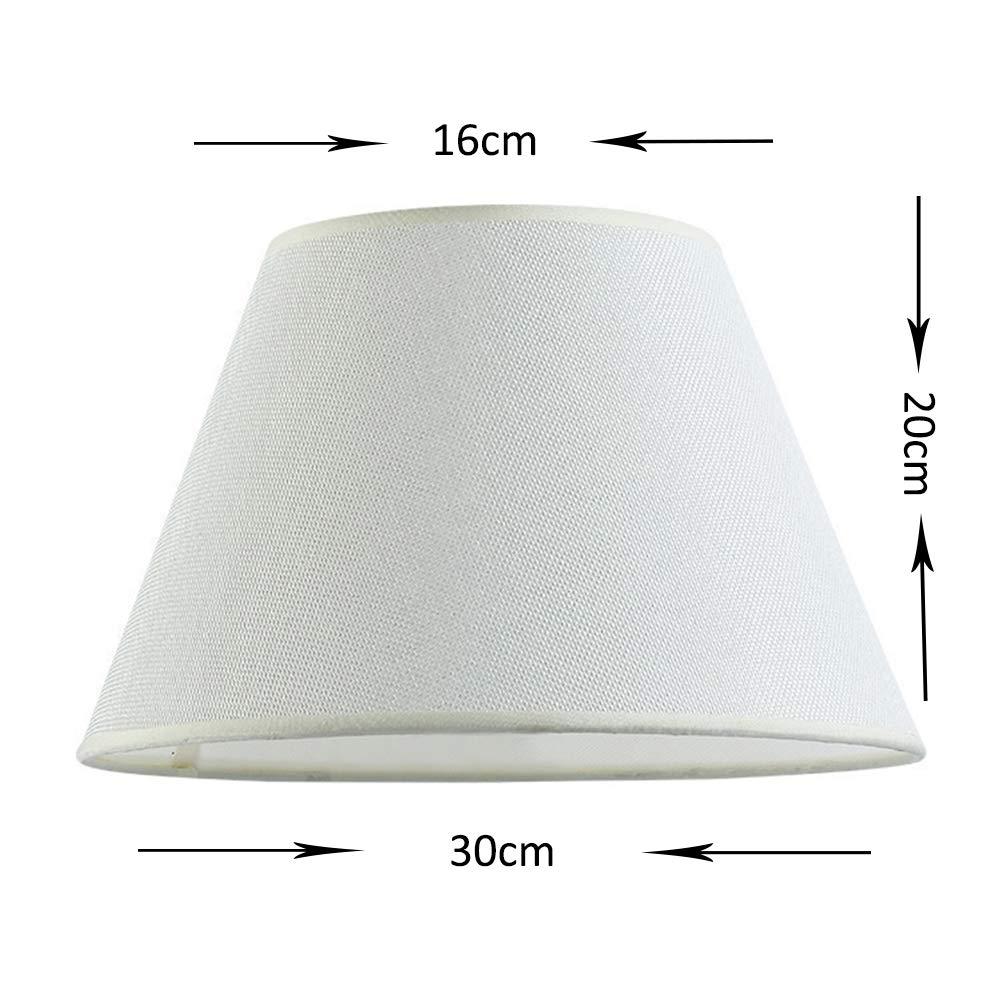 DULEE 9,5 Zoll Leinen E27 Schraubtisch Lampenschirme Lightshade f/ür Tischlampe Bedlamp, 16 cm x H/öhe Rose Leinen unten 19 cm x Top 24 cm