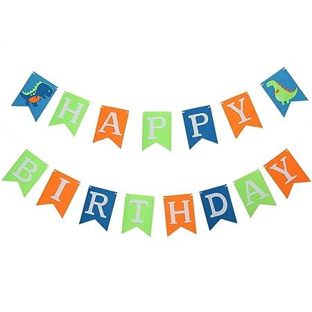 BESTOYARD - Banderín de cumpleaños con diseño de Dinosaurio ...