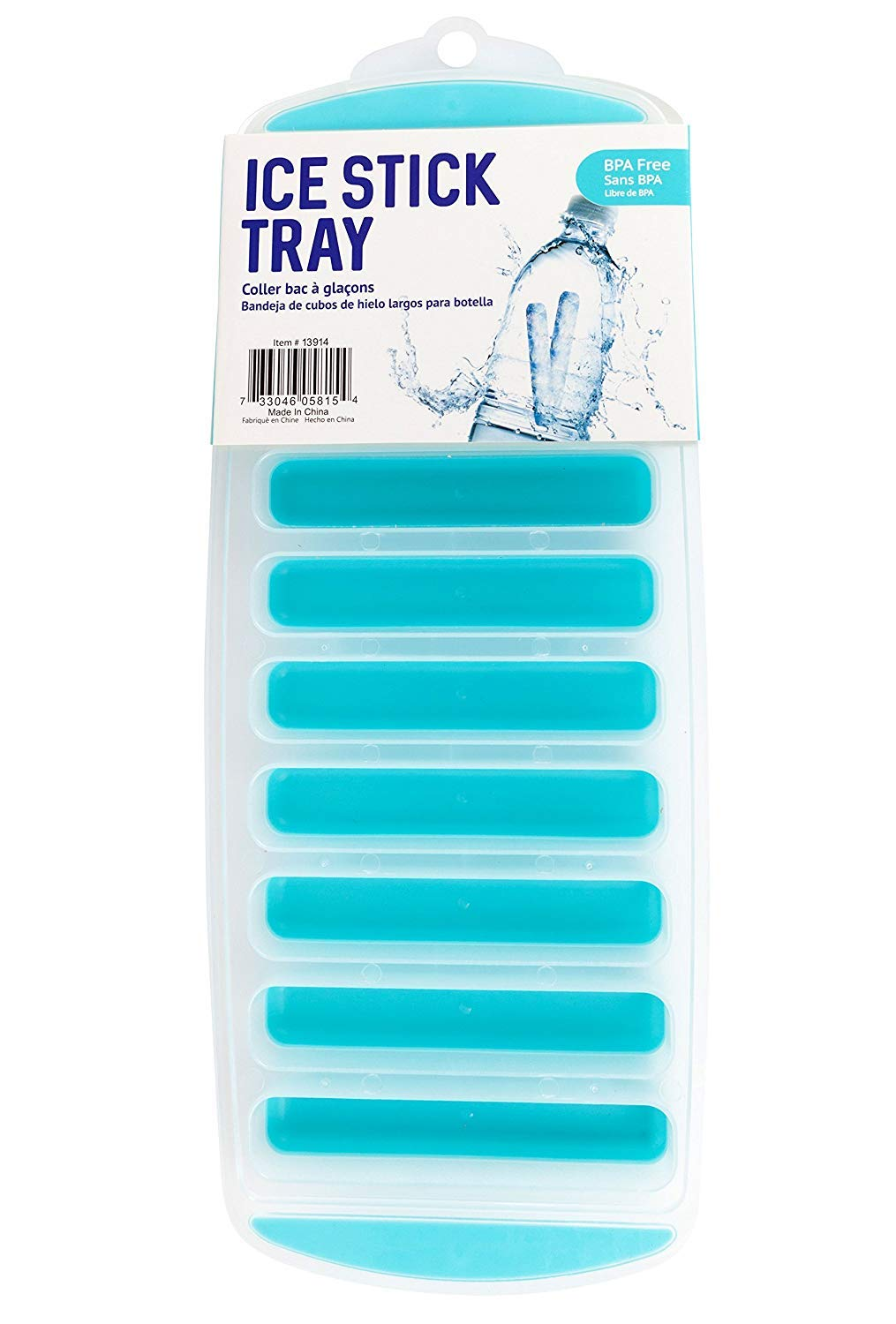 Good Living Compact Ice Stick Tray, Ice For Water Bottles, 1-Tray
