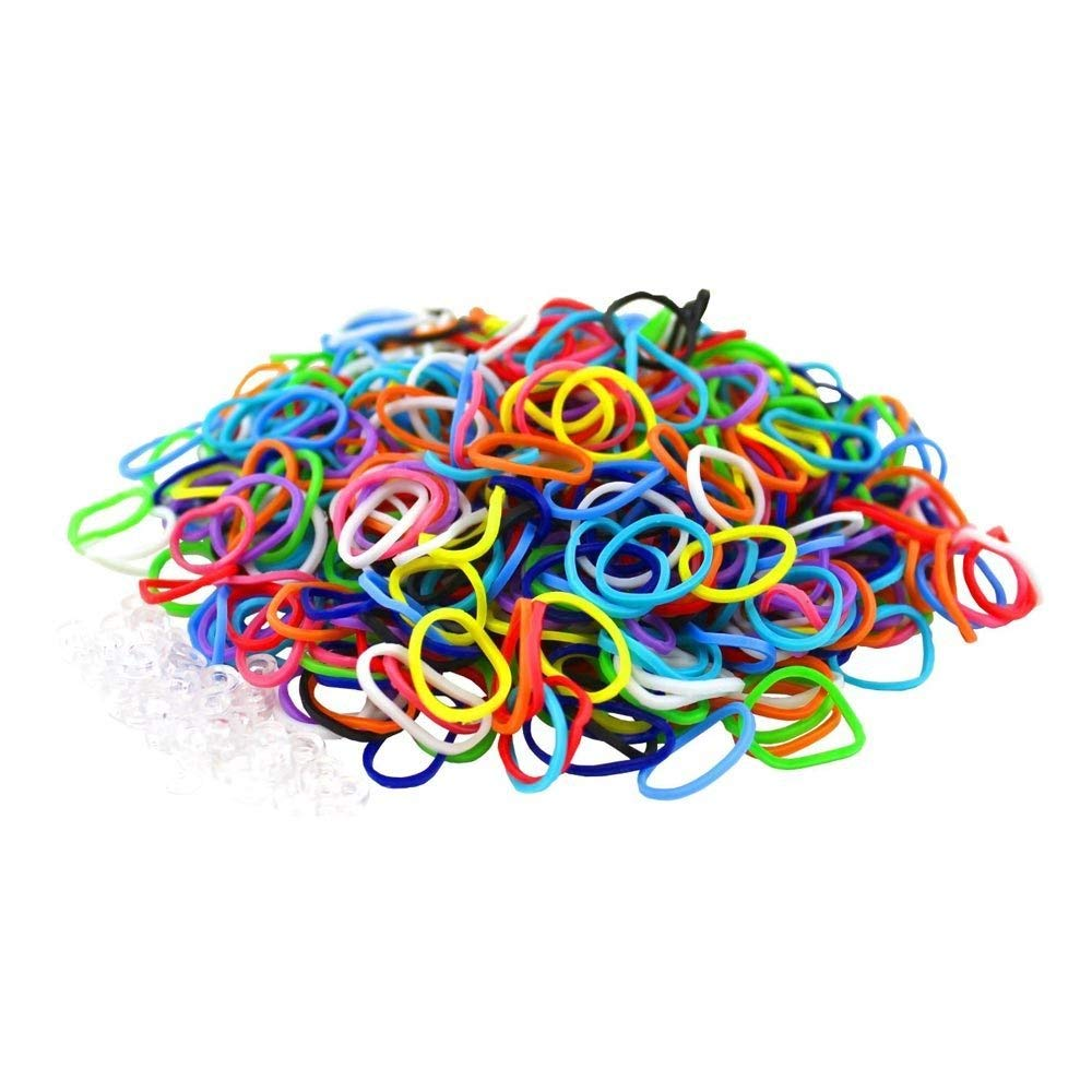 HQ-CLOUD 6000 é lastiques multicouleur + 20 clips cré ation bracelet style Rainbow Loom