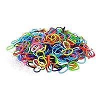 HQ-CLOUD 600 élastiques multicouleur + 20 clips création bracelet style Rainbow Loom