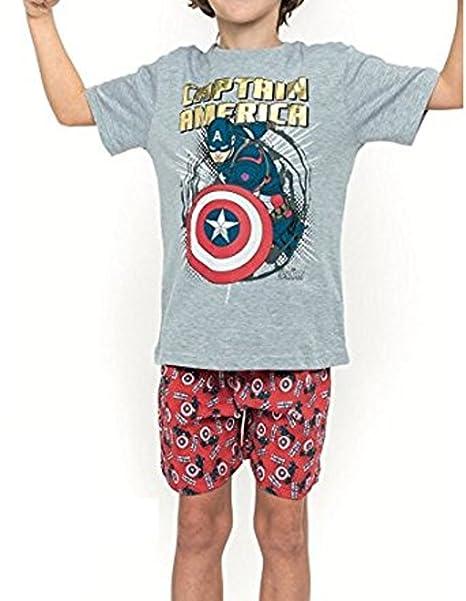 Pijama CAPITAN AMERICA Niño Manga Corta (14)