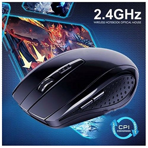 Slim 2.4GHz Wireless Optical Mouse Cordless Mice USB 2.0 Receiver For Laptop PC from Unbranded*