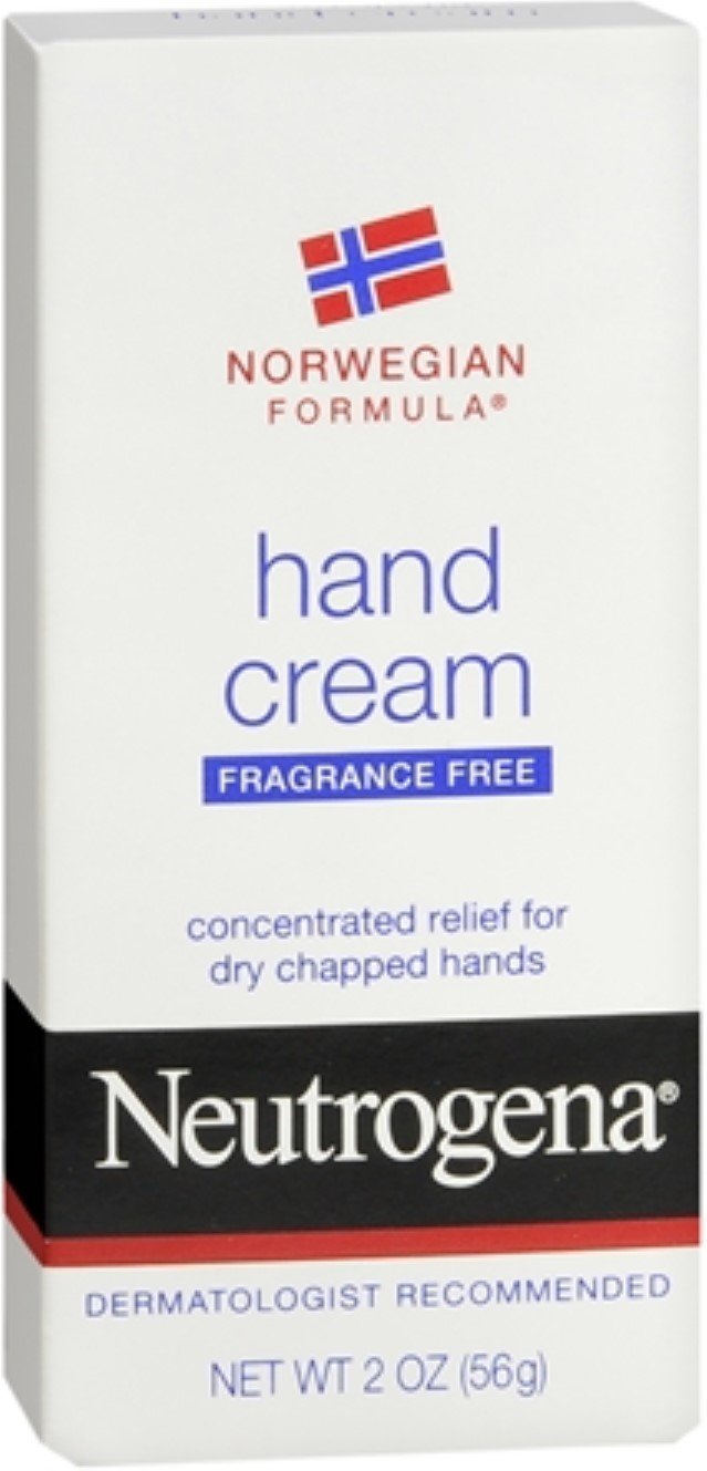 Neutrogena Norwegian Formula Hand Cream Fragrance-Free 2 oz (Pack of 8)