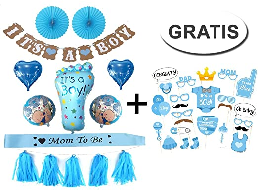 Generic Baby Shower Party Decoración Set Boy/Niño: Amazon.es: Juguetes y juegos