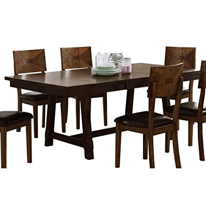 Amazoncom Ncf Geronimo Mid Century Modern Dining Table With Leaf