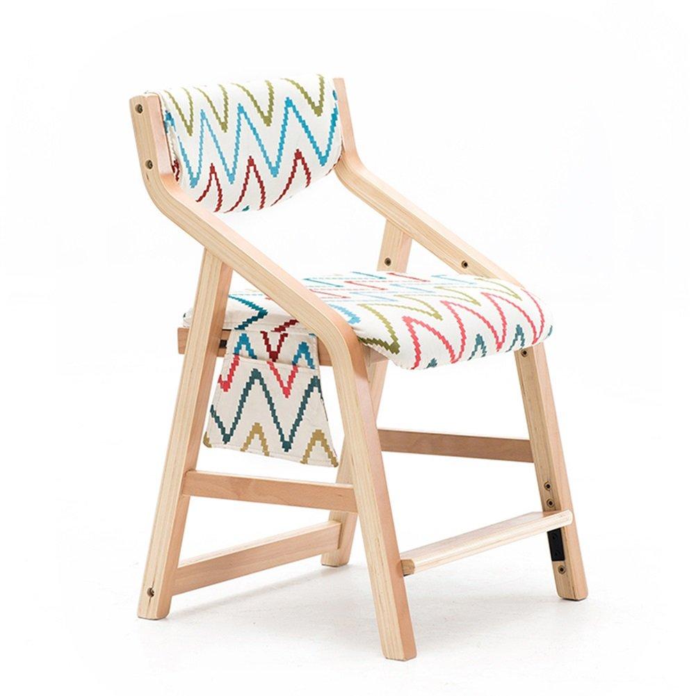 子供用ダイニングチェアソリッドウッド家庭用ベッドルームリビングルームは様々なスタイルを上げることができます椅子を学ぶ(53 * 49 * 83cm) (色 : Style9) B07DZ239G6 Style9 Style9