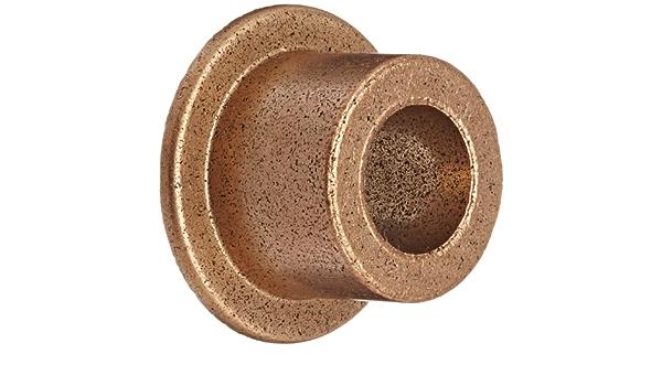 American Bronze 3//8 x 1//2 x 5//16 Sleeve Bearing Bronze Bushing Flange Made in the USA