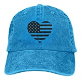 LETI LISW America Flag HeartClassicDad Hat Adult Unisex Adjustable Cap