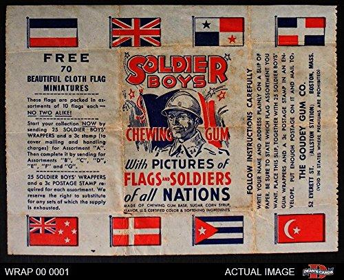 1930s Goudey Soldier Boys Wax Wrapper (Baseball Card) Dean's Cards 3 - VG