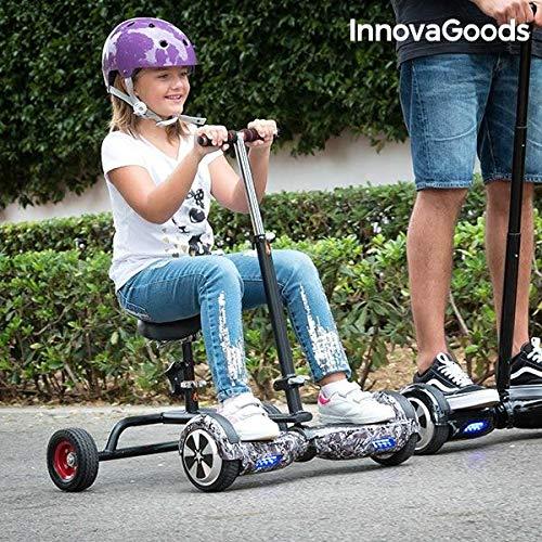 InnovaGoods Ig115908 Hoverbike para Hoverboard, Unisex niños, Negro, Talla Única IGS