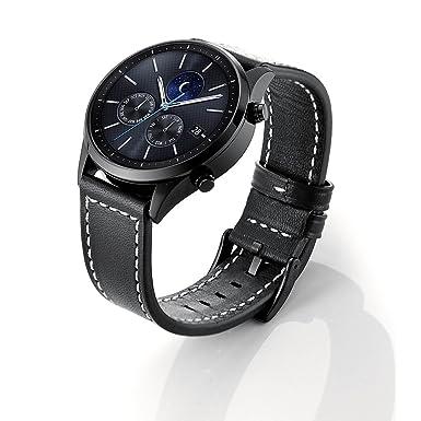 Sundaree Correas Galaxy Watch 46mm/Gear s3 Frontier/S3 Classic,Sundaree Cuero Reemplazo