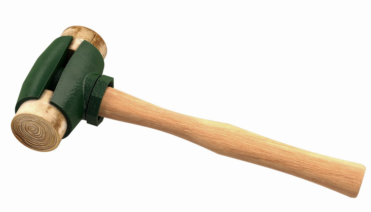 Garland 31004 4-Pound Rawhide Face Hammer with Wood Handle by Garland