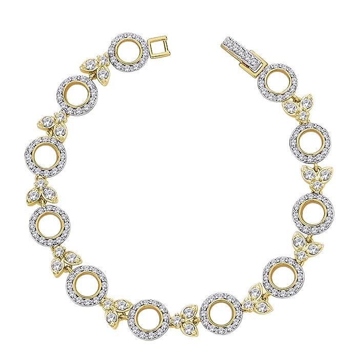 Peora Valentine 18 Karat Gold Plated Trendsetter Bracelet with Fold-Over Clasp PB5G Bangles & Bracelets at amazon