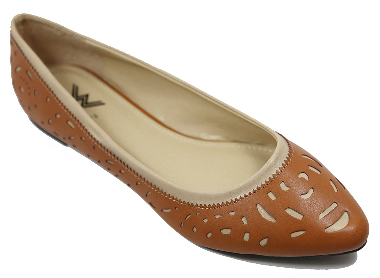 da6b49394 Walstar Women s Comfortable Pointy Toe Toe Toe Flat Pumps Shoes B01GENL27G  7.5 B(M)