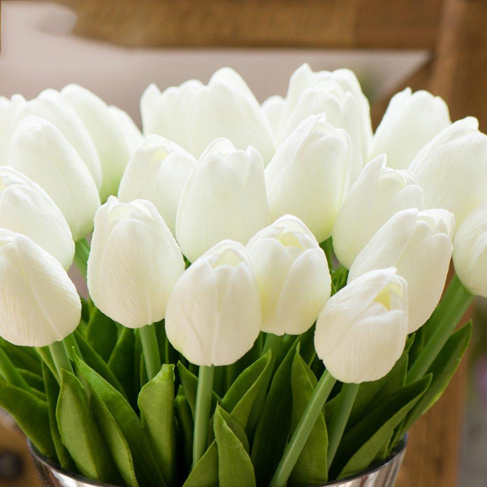 Amazon.com: Montout 12PCS/Set PU Stunning Holland Tulip Flower Real ...
