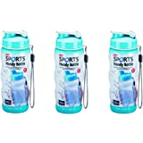 788bc50b17 3 x Lock And & Lock Colour Gym Sports Handy Bottle With Carry Strap 500ml  Light