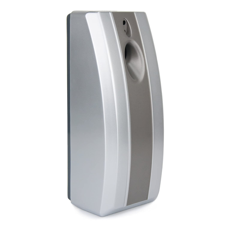 Automatic Air Freshener - Day/Night Sensor - Commercial Bathroom Toilet - Silver