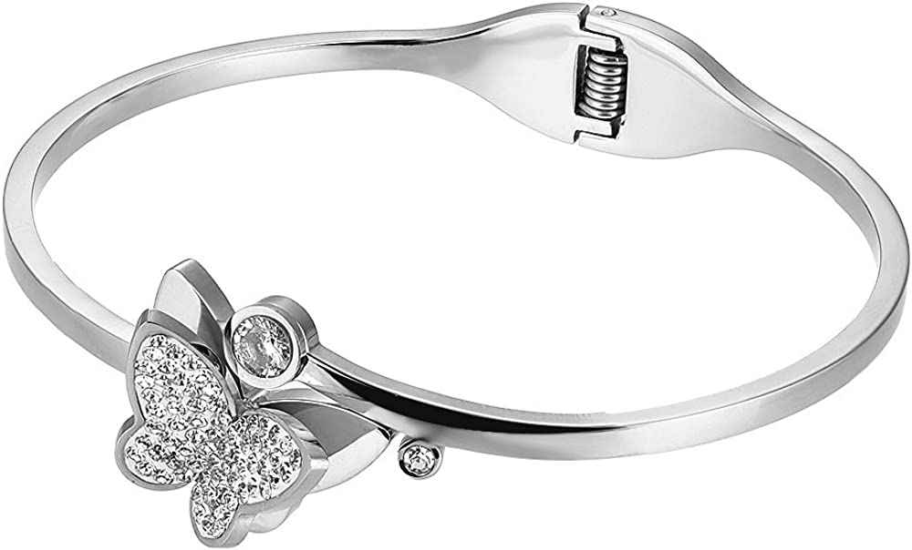 BIJOUX BOBBI [Luxury Packaging The Butterfly Symbol Stainless Steel Bangle Series