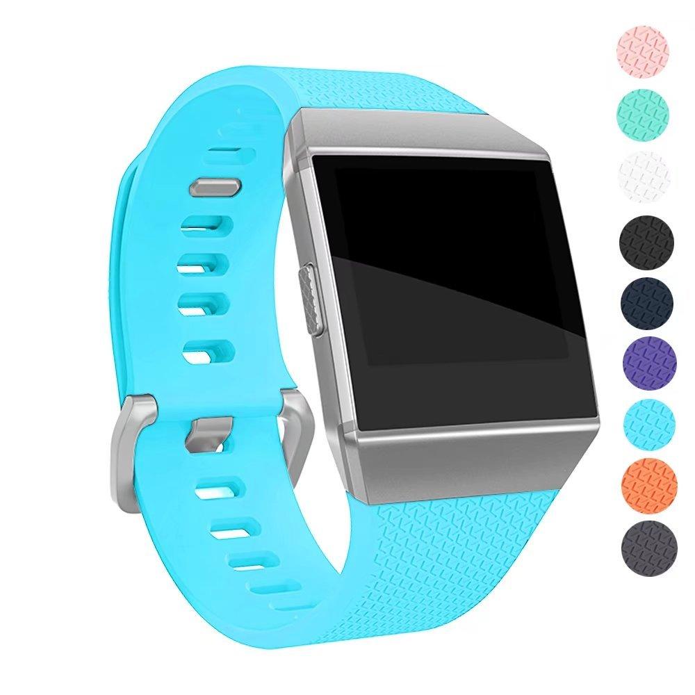 greatouバンドfor Fitbit Ionicバンド、ソフト耐久性スポーツシリコン交換用手首ストラップスマート腕時計アクセサリーバンド、、Large / Smallサイズ Large(6.7