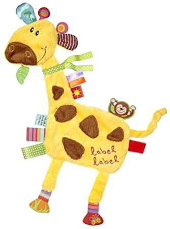 GIRAFFE Ages 0 Months LABEL LABEL SOFT COMFORTER TAG BLANKIE **FREE DELIVE