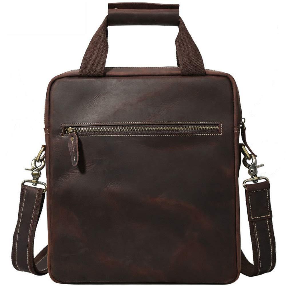 Monkibag-MB Laptop Messenger Bag First Layer Leather Briefcase Shoulder Bag Leather Mens Bag Business Mens Casual Briefcase Business Bag Laptop Bag Briefcase Laptop Messenger Bag