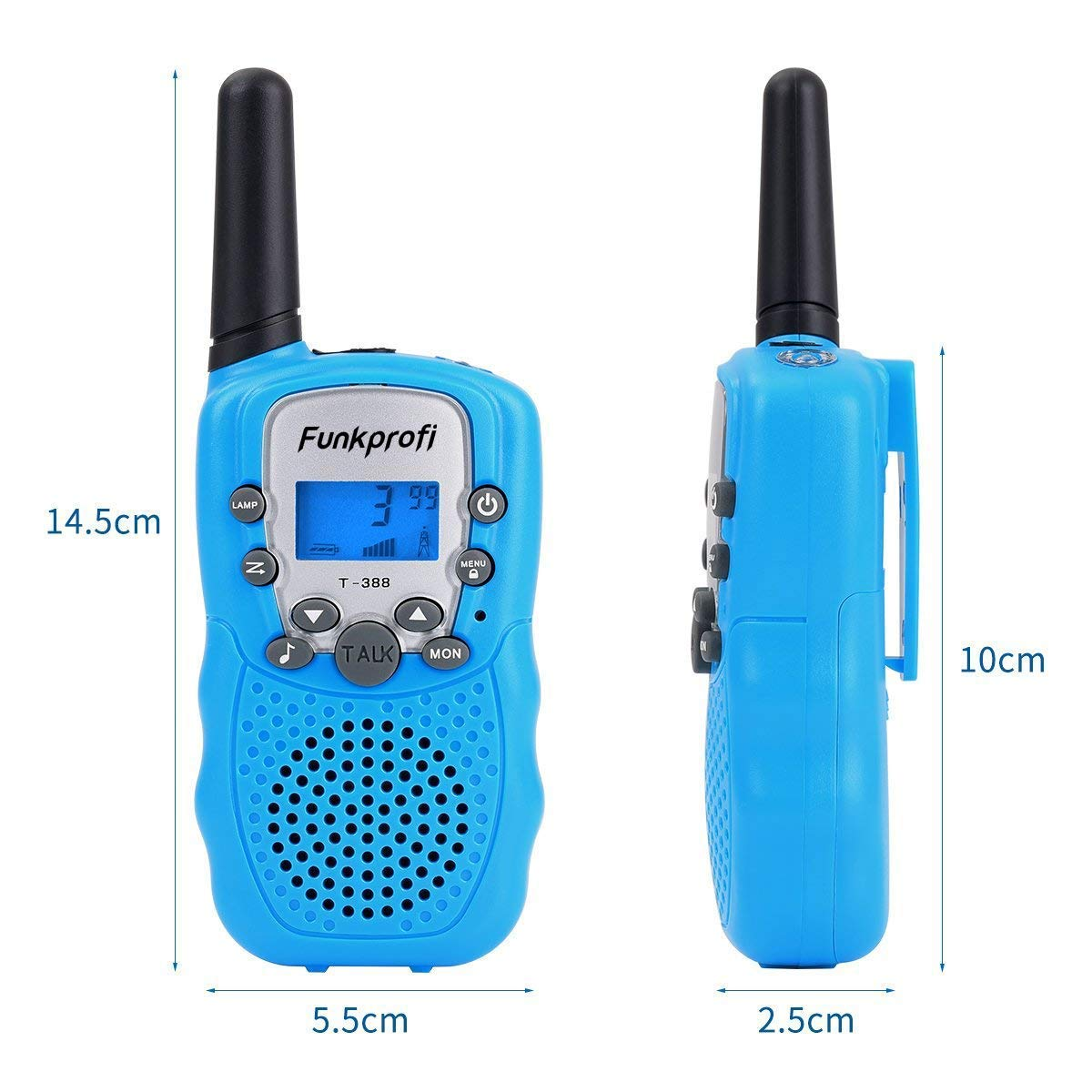 Funkprofi 3 Pack Walkie Talkies for Kids 22 Channel Uhf FRS/GMRS 2 Way Radio, Toy Gifts for Boys and Girls Birthday, Outdoor Adventure, Camping, Hiking by Funkprofi (Image #3)