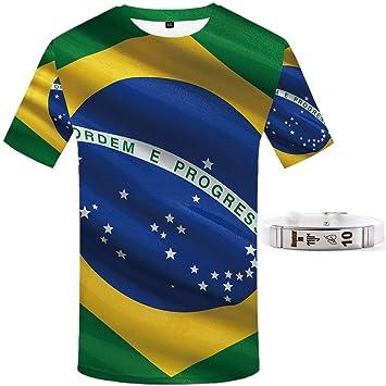 Copa America Brasil Camiseta Mundo Vaso Katar Pulsera Neymar Manga ...