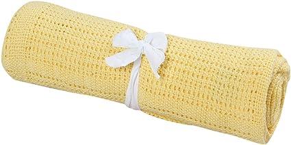 Gaddrt New 100/% Cotton Baby Cellular Blanket Pram Cot Bed Moses Basket Crib White