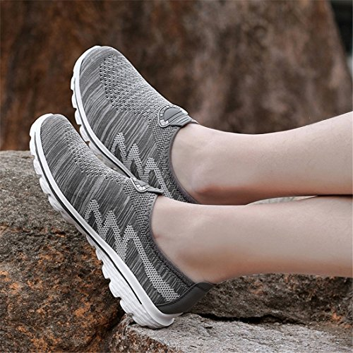 Fashion Schuhe Breathable Light Sport Casual Grau Sneakers Weight Herren Laufschuhe SEVENWELL Mesh qpB88