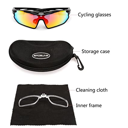 88f7cab36c3 Image Unavailable. Image not available for. Color  Lixada Polarized Cycling  Glasses Bike Bicycle UV400 Protection Sports Driving Golf Motorcycling  Fishing ...