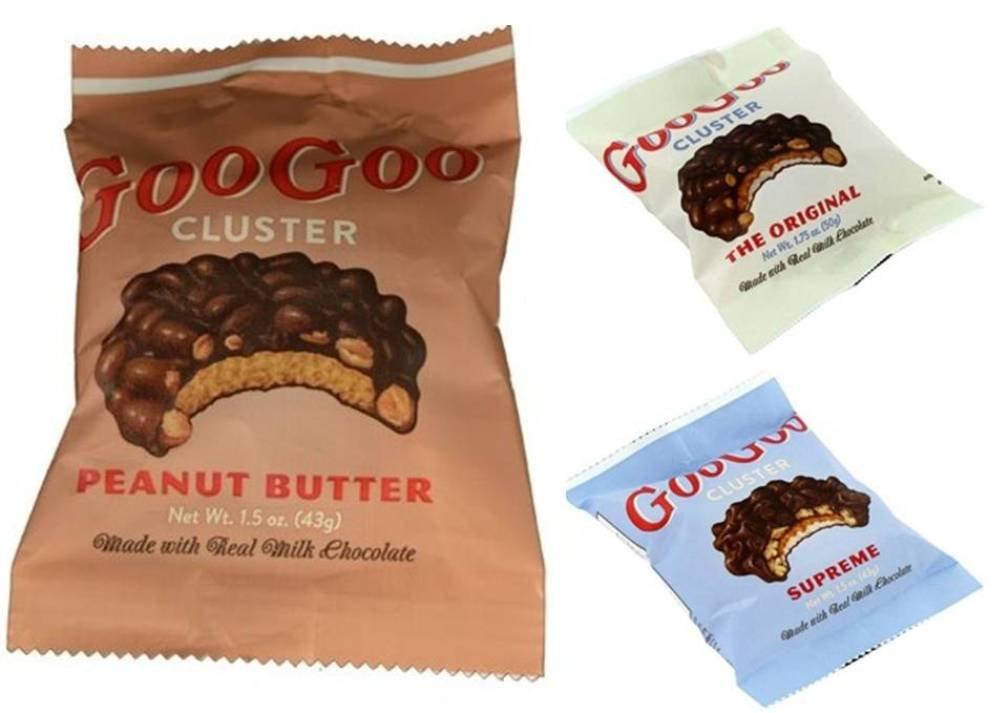 Goo Goo Clusters 3 Flavor 9 Piece Variety Bundle: (3) Goo Goo Clusters Original, (3) Goo Goo Clusters Supreme, and (3) Goo Goo Clusters Peanut Butter, 1.5-1.75 Oz Ea (9 Tot)