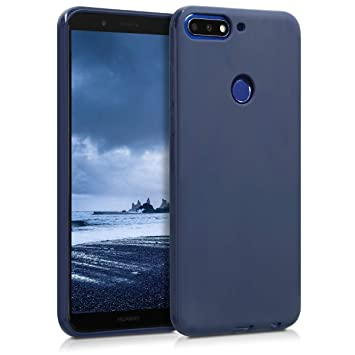 nuovo arrivo 59a65 9e1a4 kwmobile TPU Silicone Case for Huawei Y7 (2018)/Y7 Prime (2018) - Soft  Flexible Shock Absorbent Protective Phone Cover - Dark Blue Matte