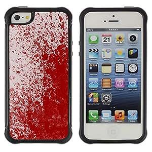 "Pulsar iFace Series Tpu silicona Carcasa Funda Case para Apple iPhone SE / iPhone 5 / iPhone 5S , Paint Blood Splash Arte Moderno Rojo aleatoria"""