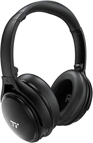 TaoTronics Active Noise Cancelling Bluetooth Headphones Wireless Over Ear Headset Foldable Earphones with Powerful Bass Dual 40 mm Drivers, 30 Hour Playtime Renewed