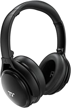 Amazon Com Taotronics Active Noise Cancelling Bluetooth Headphones Wireless Over Ear Headset Foldable Earphones With Powerful Bass Dual 40 Mm Drivers 30 Hour Playtime Renewed Electronics
