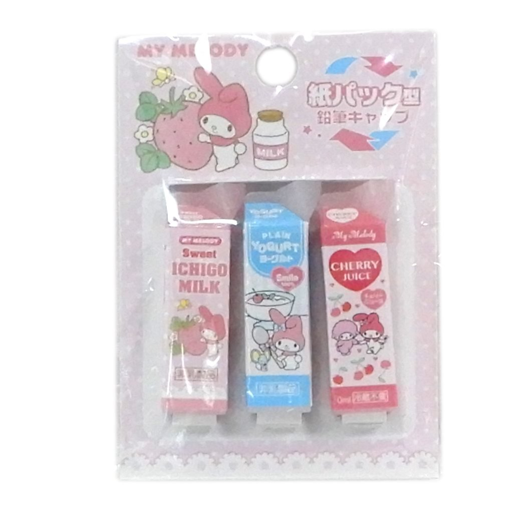 Sanrio My Melody Pencil Cap Parody Pencil Cover Three Set SAKAMOTO 24507501